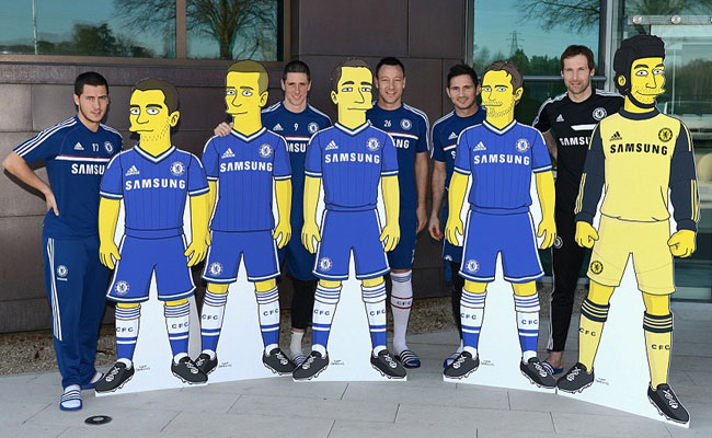 Lima Pemain Chelsea Dikartunkan Ala The Simpsons