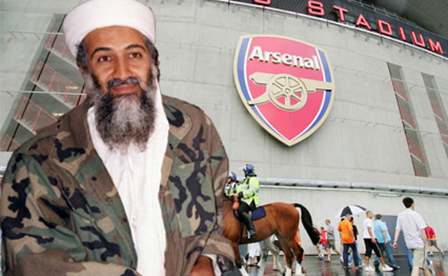 Osama Bin Laden, Sang Fans Arsenal