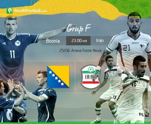 [Match Preview] Bosnia vs Iran: Bosnia Mencari Cinderamata, Iran Ingin Menjaga Asa
