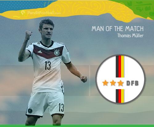 [Man of the Match] Mueller, Biang Kekalahan Portugal