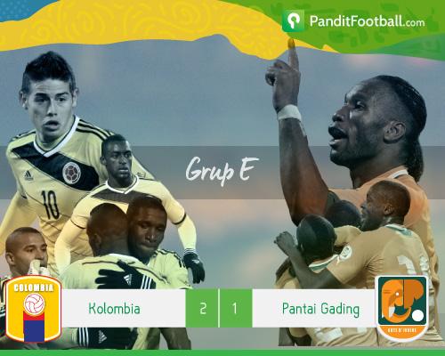 [Match Report] Kolombia 2-1 Pantai Gading