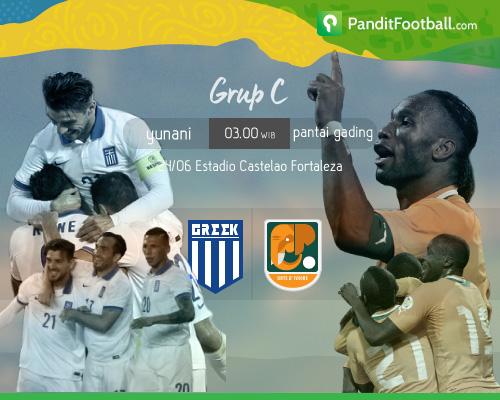 [Match Analysis] Yunani vs Pantai Gading: Keberuntungan di Detik-detik Akhir