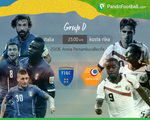 [Match Preview] Italia vs Kosta Rika: Mengandalkan Kekuatan Lini Tengah