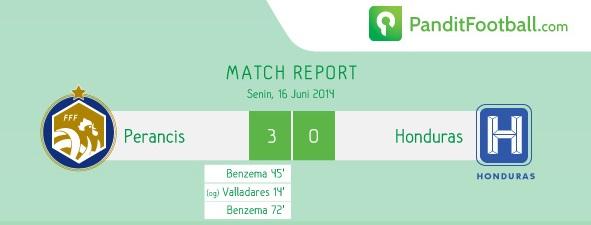 [Match Report] Perancis 3 vs 0 Honduras
