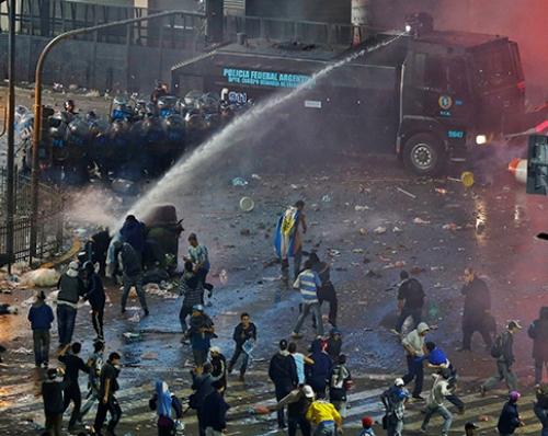 Buenos Aires Rusuh Pasca Kekalahan Argentina