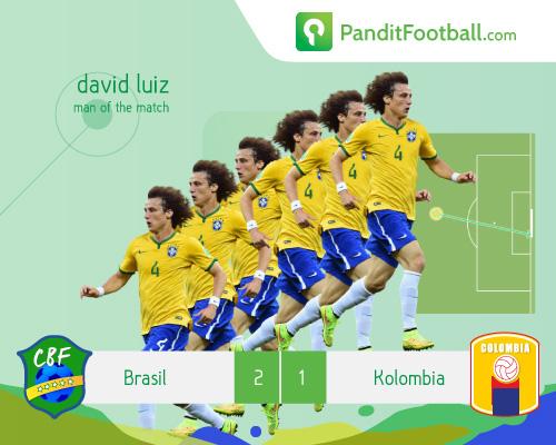 Man of The Match Brasil vs Kolombia: David Luiz